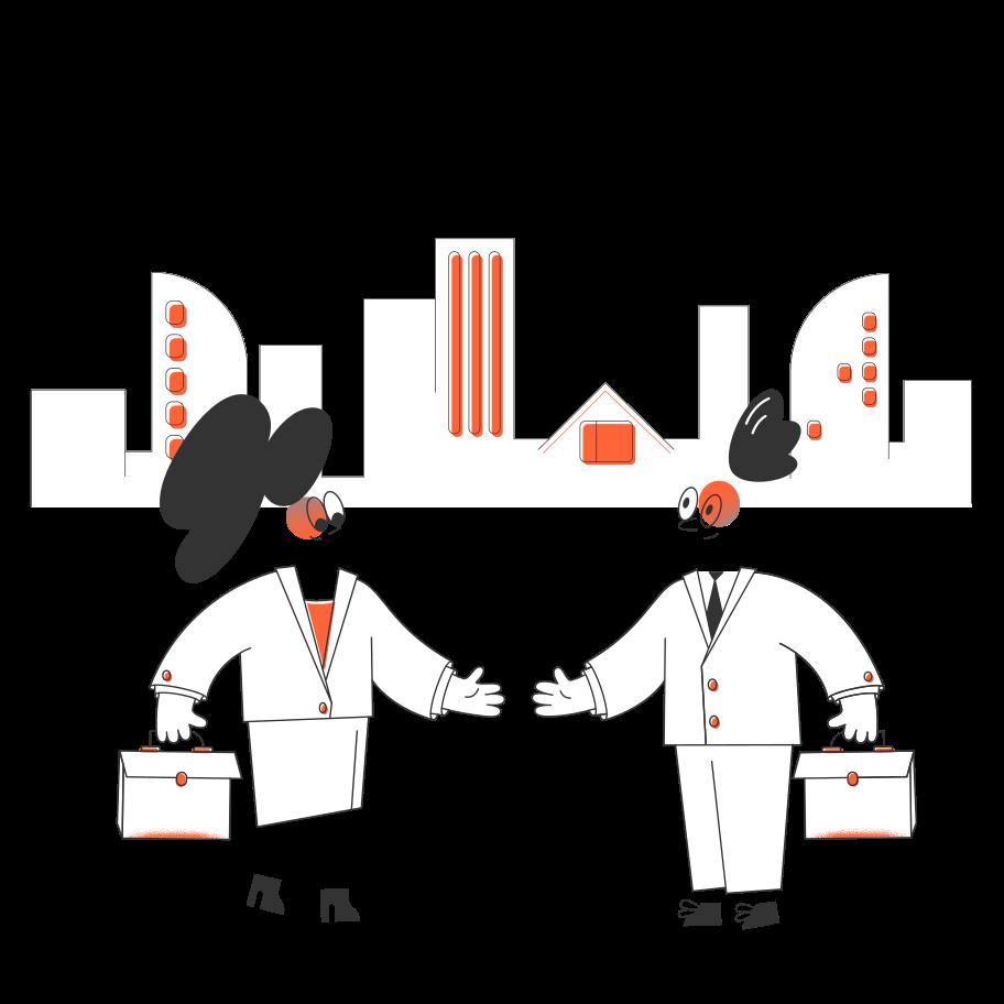 Business negotiation Clipart illustration in PNG, SVG
