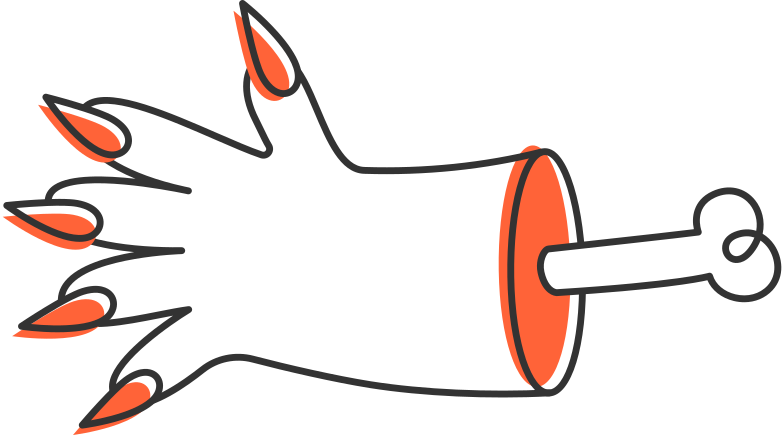 hand halloween Clipart illustration in PNG, SVG