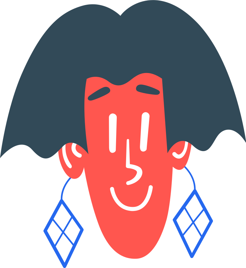 female head Clipart illustration in PNG, SVG