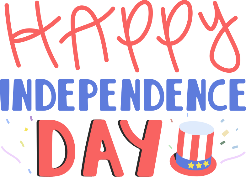 happy independence day Clipart illustration in PNG, SVG