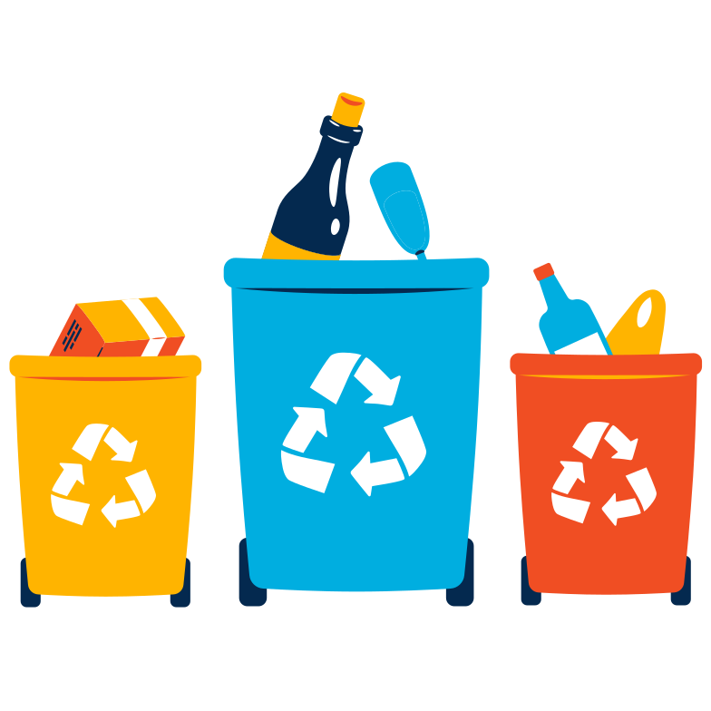 Waste sorting Clipart illustration in PNG, SVG
