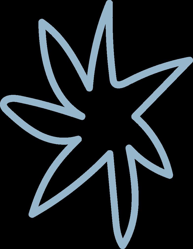 tk blue flower Clipart illustration in PNG, SVG