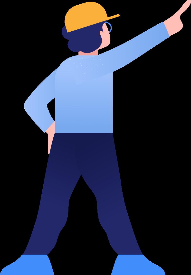 boy showing Clipart illustration in PNG, SVG