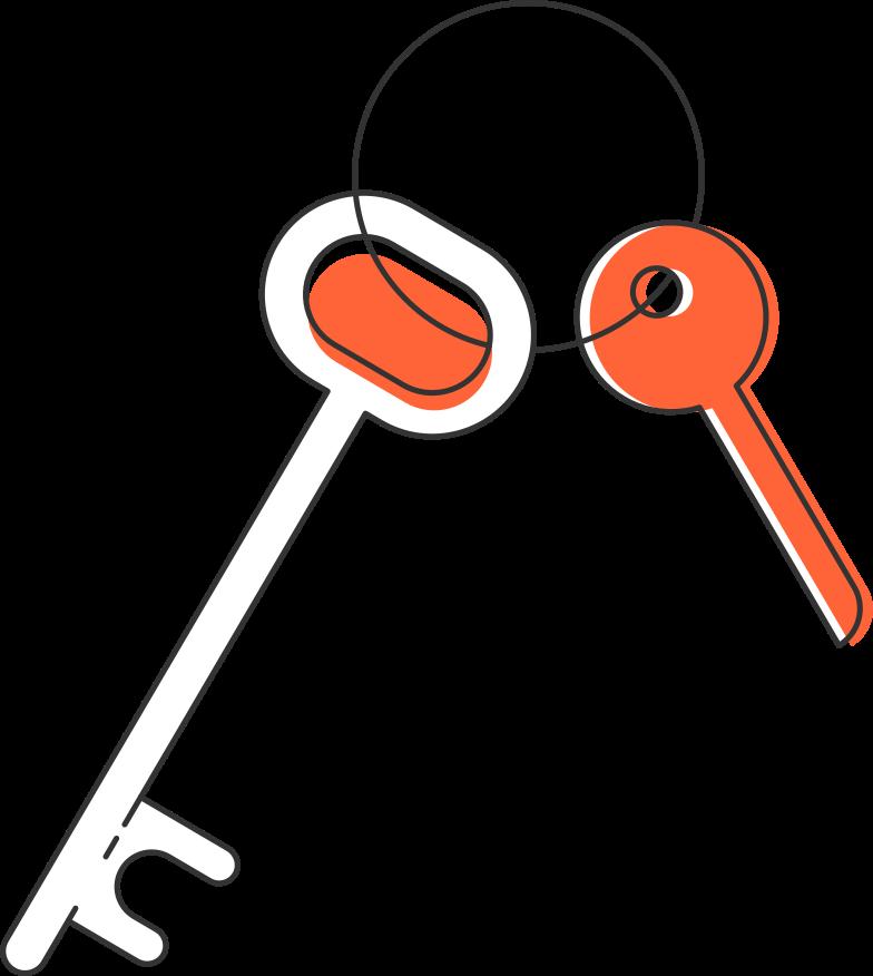 Ilustración de clipart de Llaves en PNG, SVG