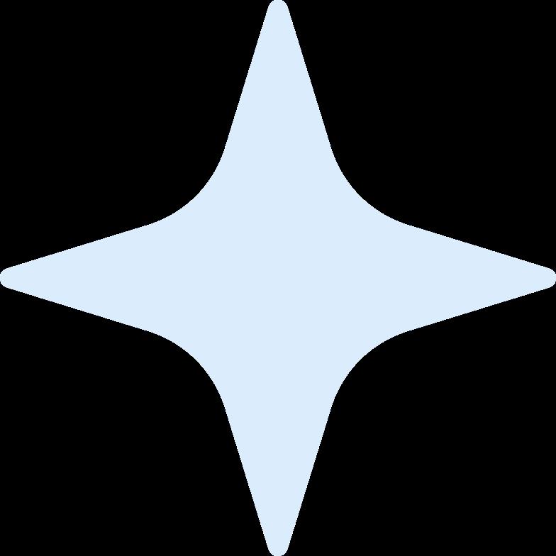 Illustration clipart flare star aux formats PNG, SVG