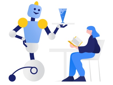 style Robot waiter  images in PNG and SVG | Icons8 Illustrations