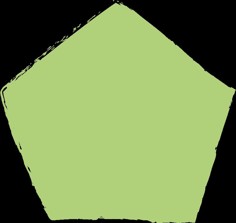 pentagon-green Clipart illustration in PNG, SVG