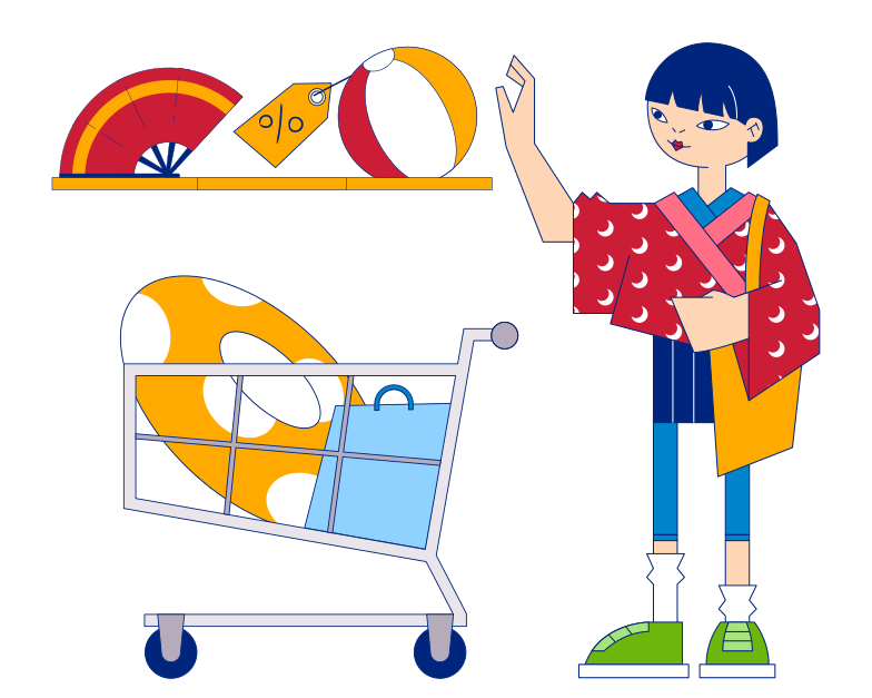 style Shopping for a vacation Vector images in PNG and SVG | Icons8 Illustrations