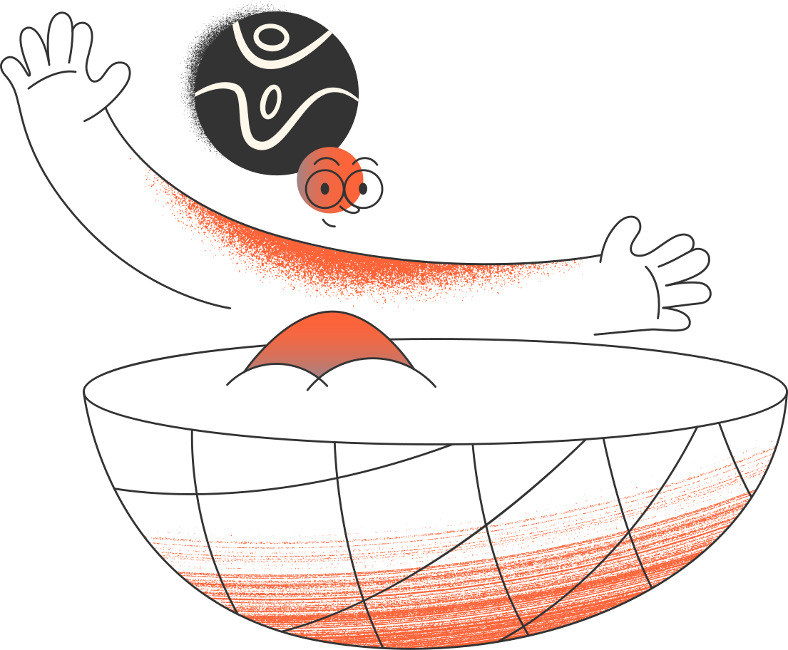 girl in the bowl Clipart illustration in PNG, SVG