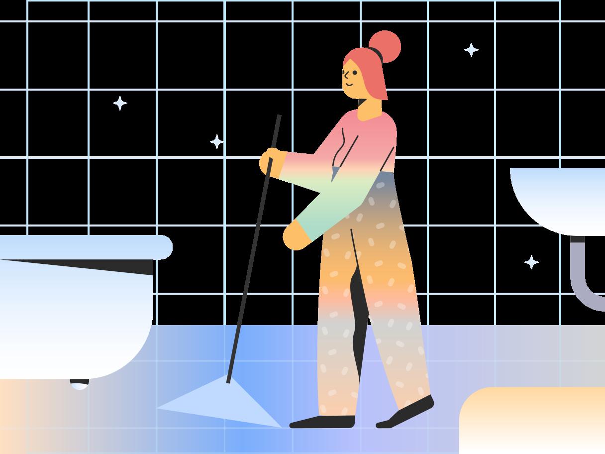 Cleaner Clipart illustration in PNG, SVG