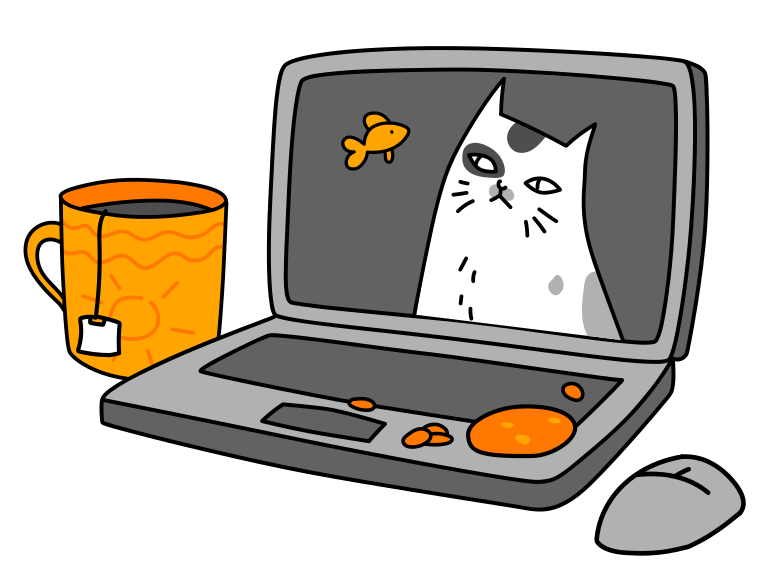 Home workplace Clipart illustration in PNG, SVG