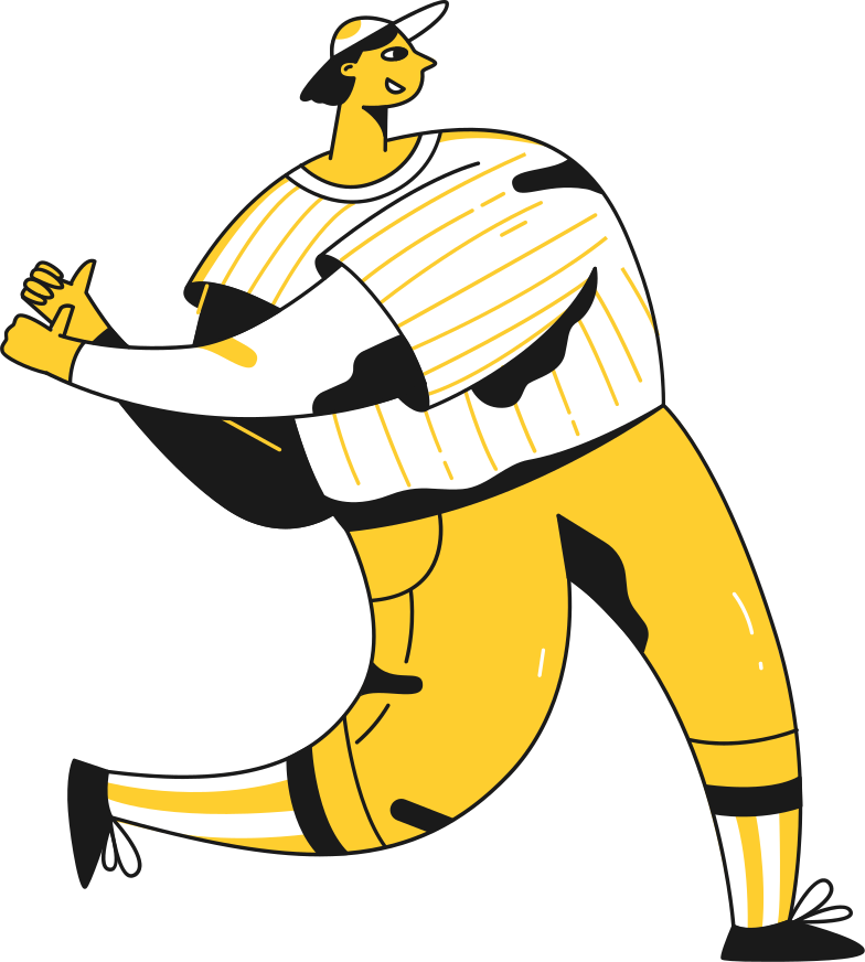 baseball playes empty handed Clipart illustration in PNG, SVG