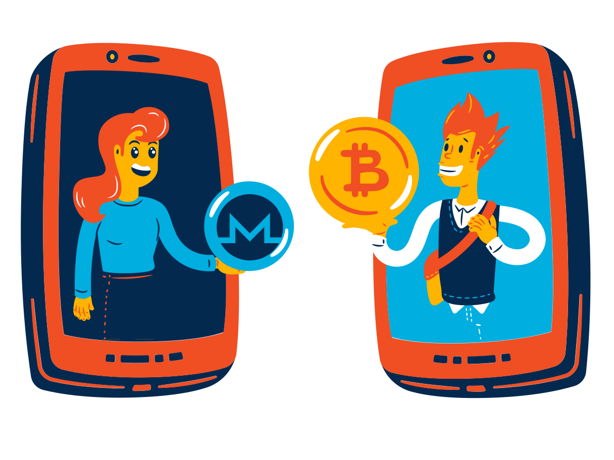 Crypto P2P Clipart illustration in PNG, SVG