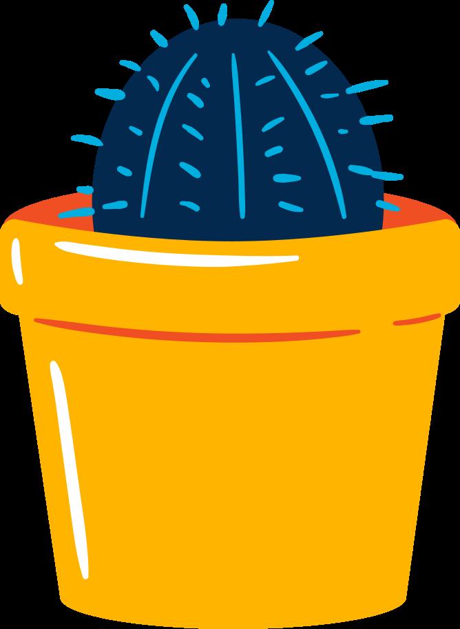 Ilustración de clipart de Planta de cactus en PNG, SVG