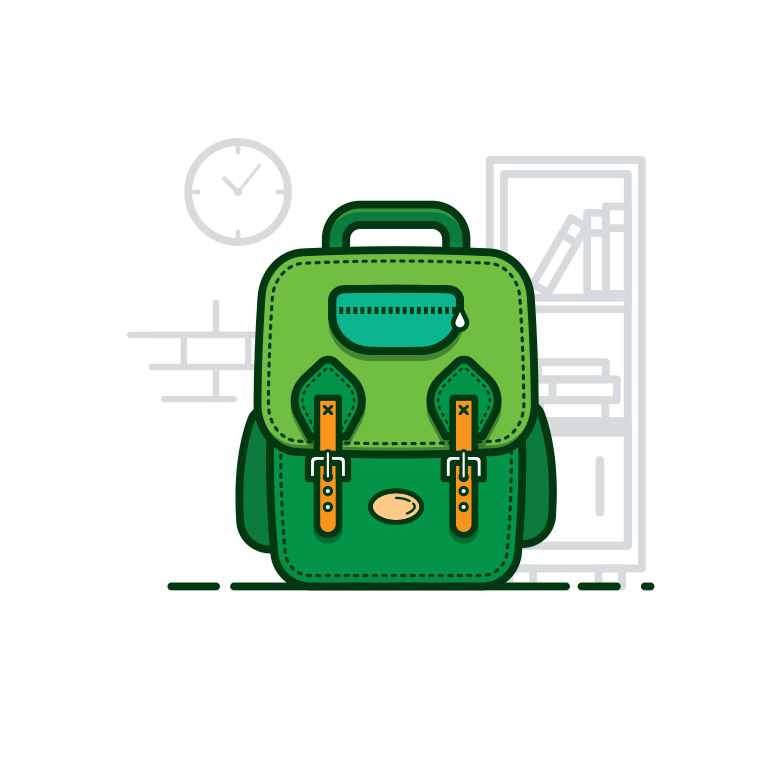style School bag Vector images in PNG and SVG | Icons8 Illustrations