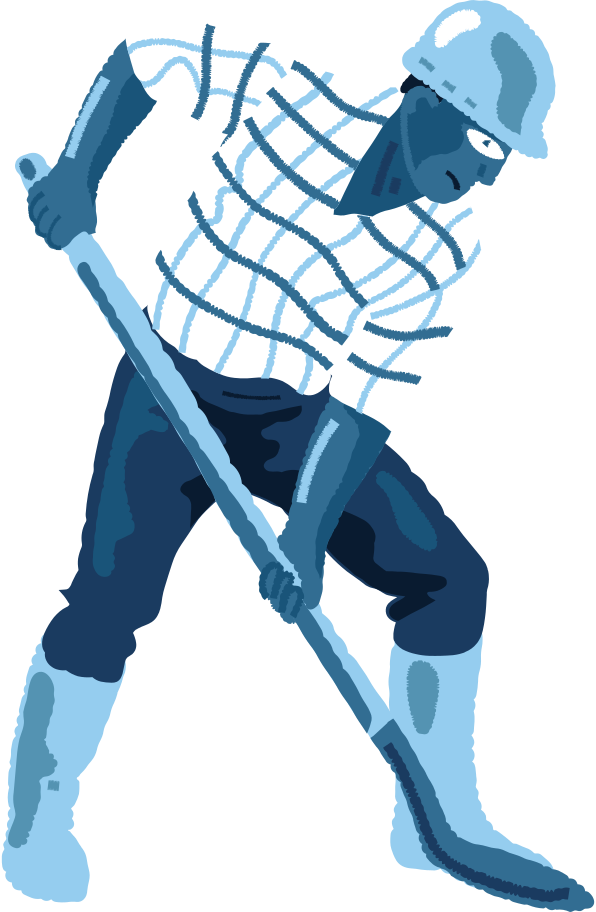 man-with-a-shovel Clipart illustration in PNG, SVG