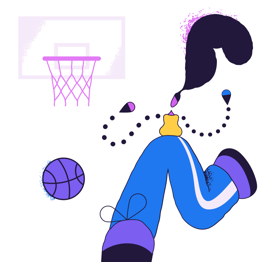 Basketball player Clipart illustration in PNG, SVG