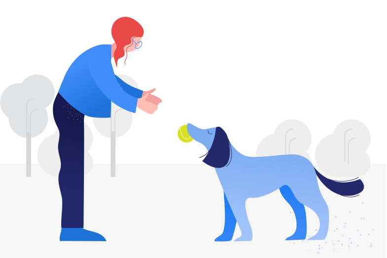 style Playing with dog Vector images in PNG and SVG | Icons8 Illustrations