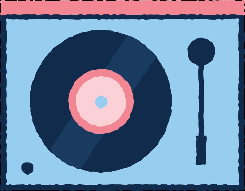 vinil recorder Clipart illustration in PNG, SVG