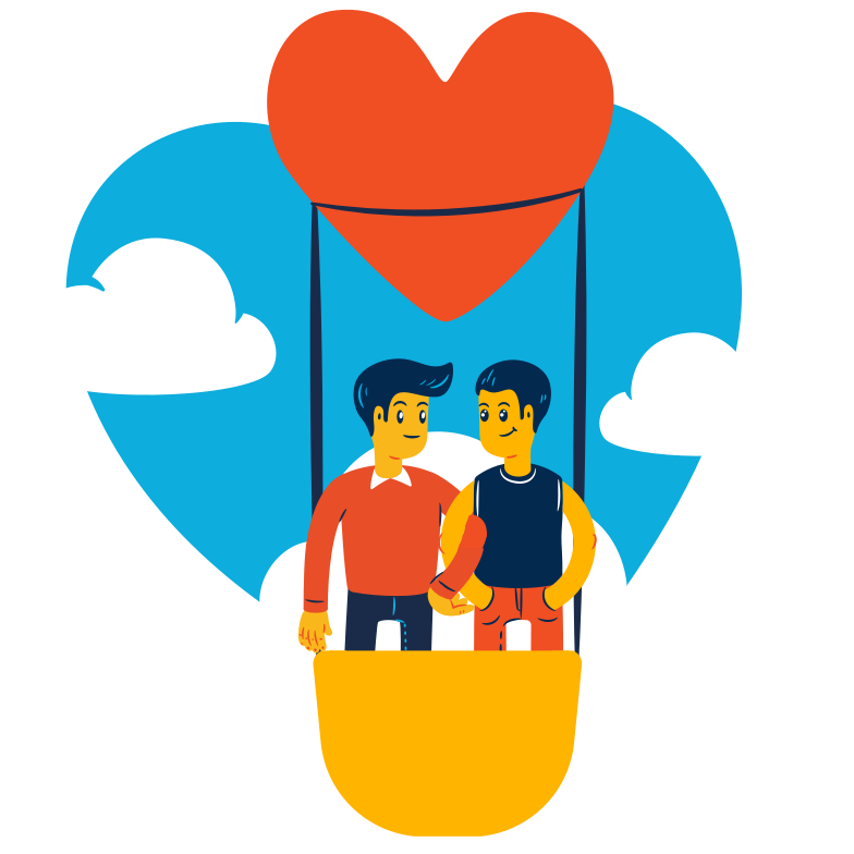 Love journey Clipart illustration in PNG, SVG