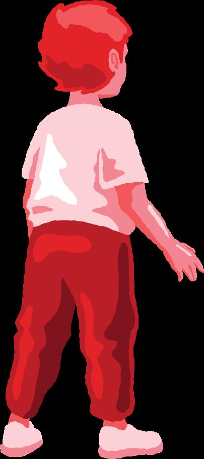 boy standing back Clipart illustration in PNG, SVG