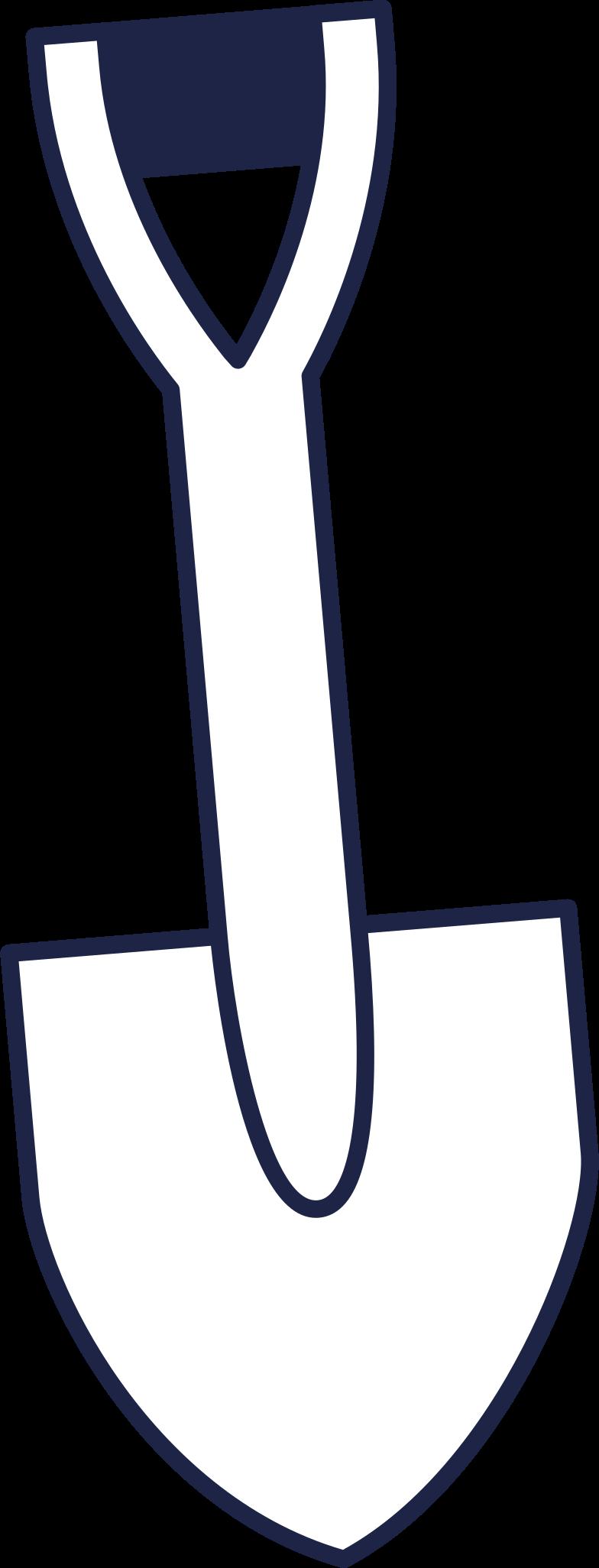 shovel line Clipart illustration in PNG, SVG