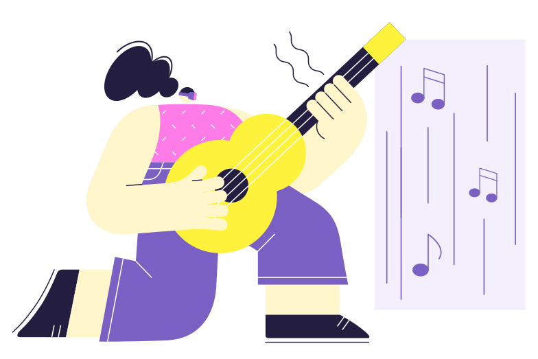 VR learning music Clipart illustration in PNG, SVG