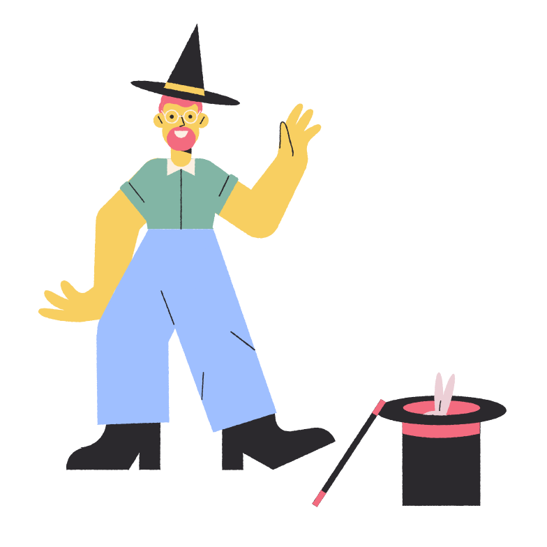 Magician Clipart illustration in PNG, SVG