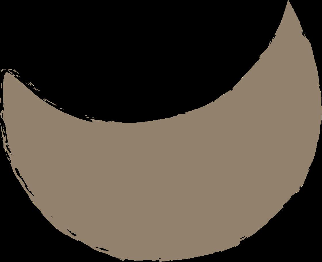 crescent-dark-grey Clipart illustration in PNG, SVG