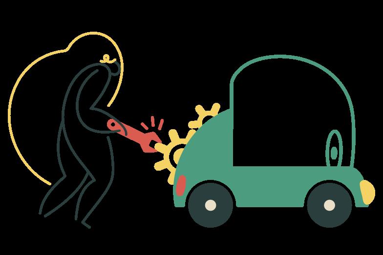 Car repair Clipart illustration in PNG, SVG