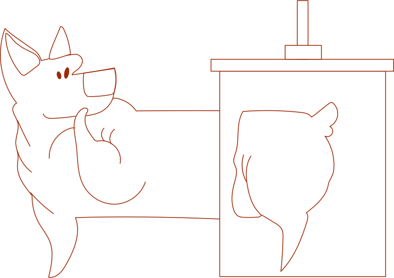 i something went wrong dog Clipart illustration in PNG, SVG