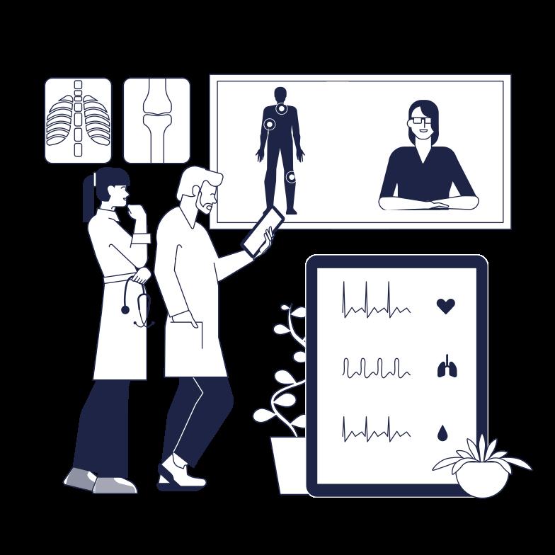 Medical Online Consultation Clipart illustration in PNG, SVG