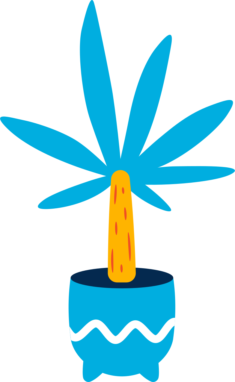 potted palm tree Clipart illustration in PNG, SVG