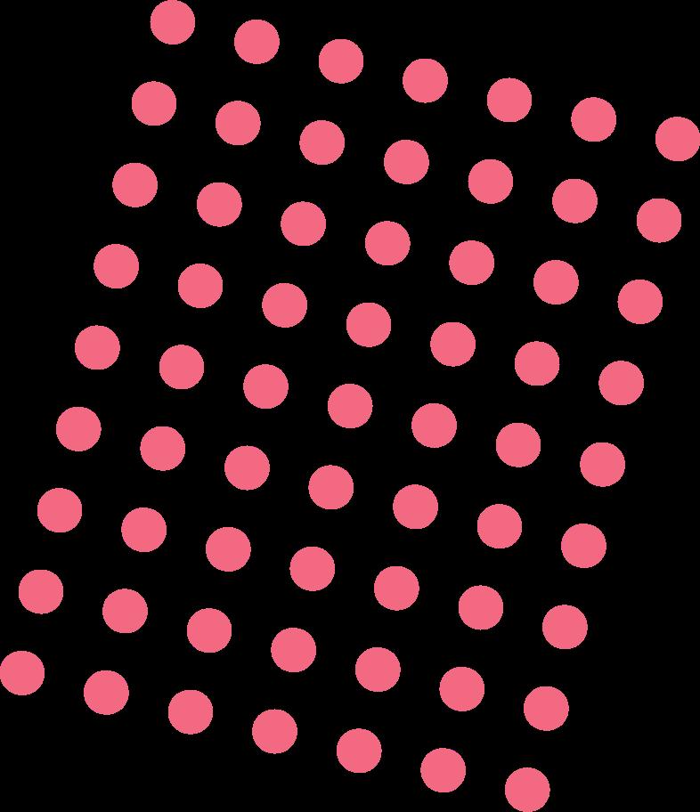 Ilustração de clipart de pontos rosa em PNG e SVG