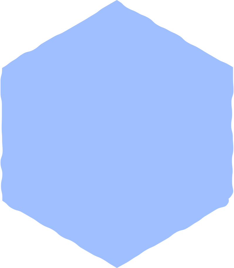 hexagon light blue Clipart illustration in PNG, SVG