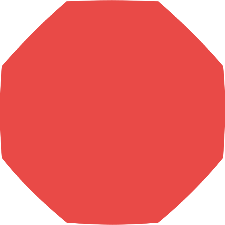 Achteck rot Clipart-Grafik als PNG, SVG