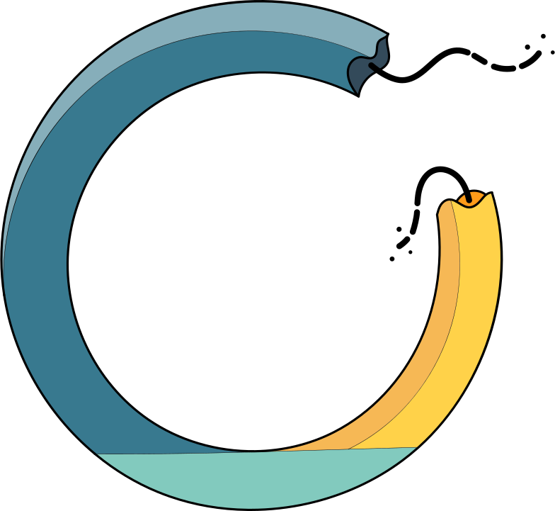 broken circle Clipart illustration in PNG, SVG