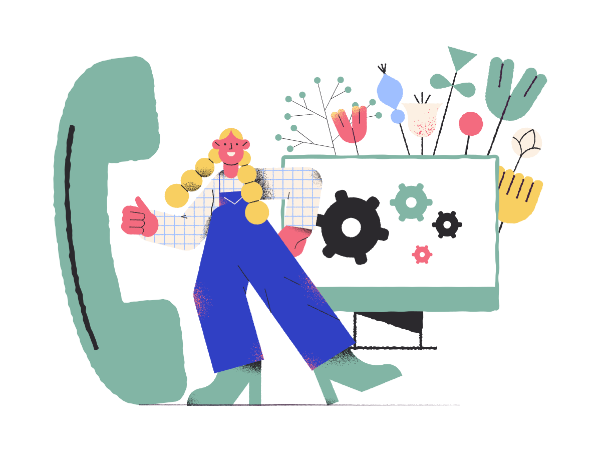 Technical support  Clipart illustration in PNG, SVG