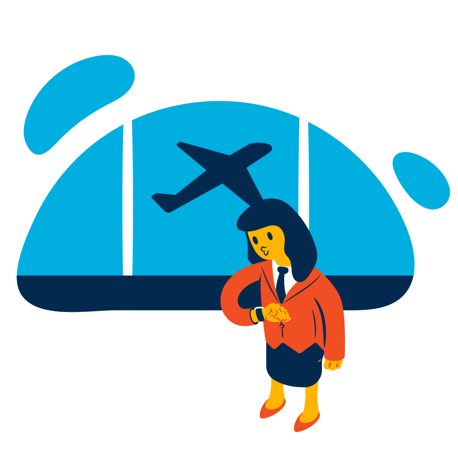 Flight is awaiting  Clipart illustration in PNG, SVG
