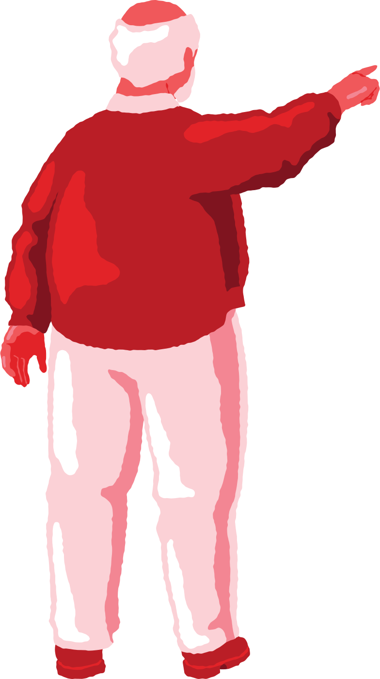 style old chubby man pointing back Vector images in PNG and SVG | Icons8 Illustrations