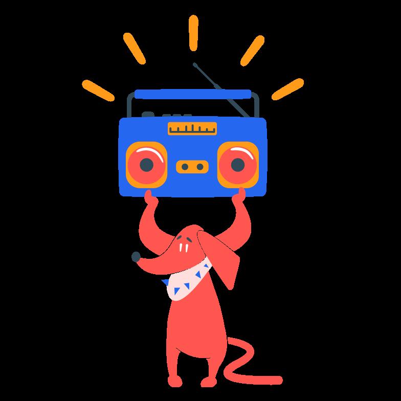 Partyhund Clipart-Grafik als PNG, SVG