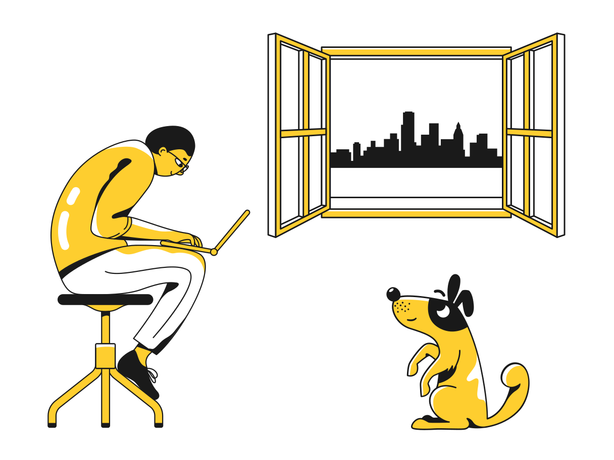 Working from home Clipart illustration in PNG, SVG