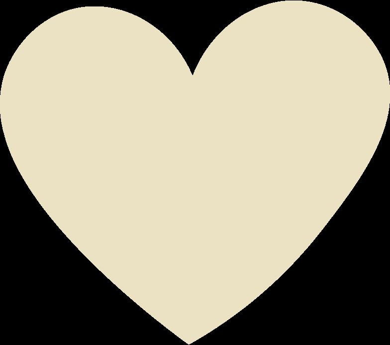 heart beige Clipart illustration in PNG, SVG