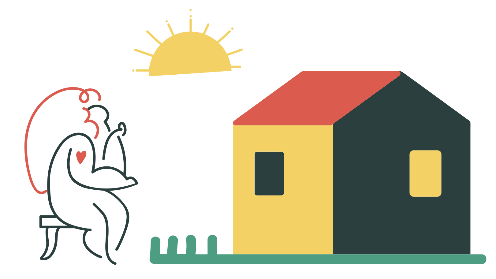 Сountry house Clipart illustration in PNG, SVG