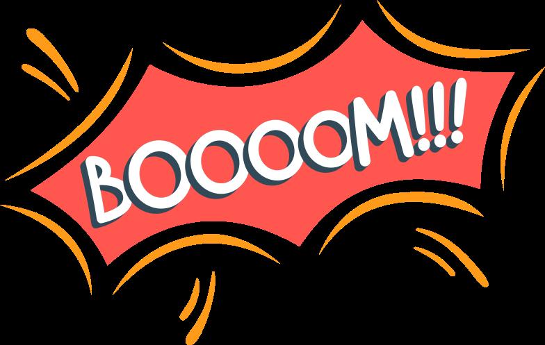 boom Clipart illustration in PNG, SVG