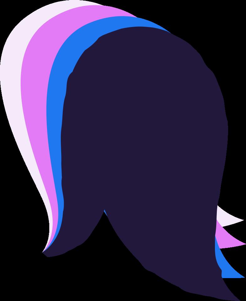 log in  hair Clipart illustration in PNG, SVG