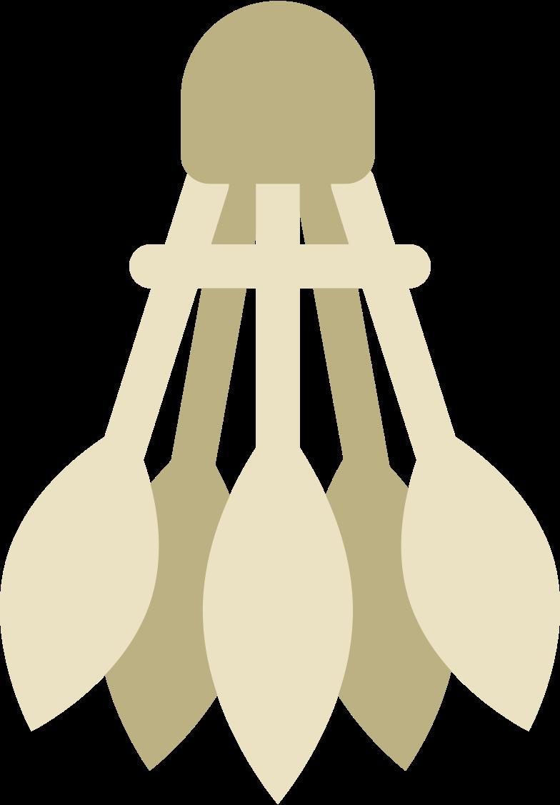 shuttlecock Clipart illustration in PNG, SVG