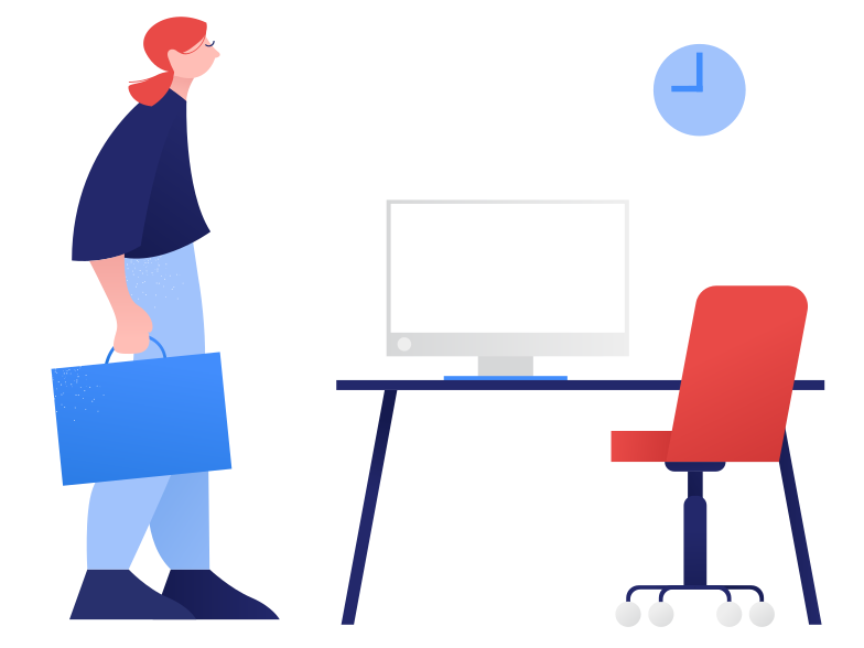 New workplace Clipart illustration in PNG, SVG