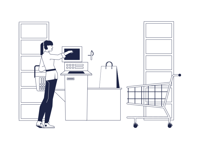Supermarkt self service Clipart-Grafik als PNG, SVG