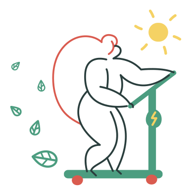 style Eco-friendly scooter images in PNG and SVG | Icons8 Illustrations